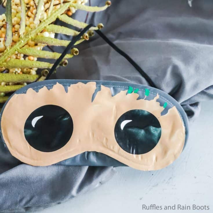 how to make a disney sleep mask for baby groot