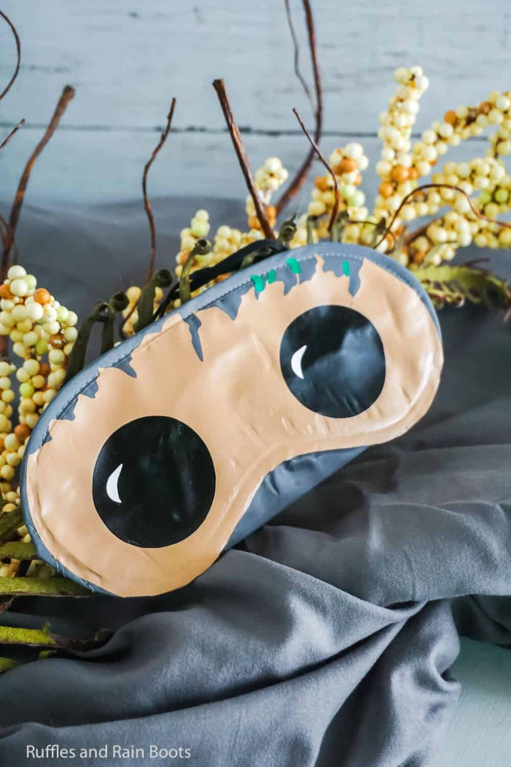 how to make a baby groot eye mask