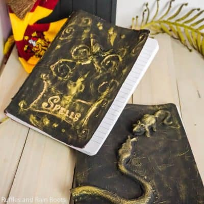 Make These Easy Harry Potter Spellbook Notebooks!