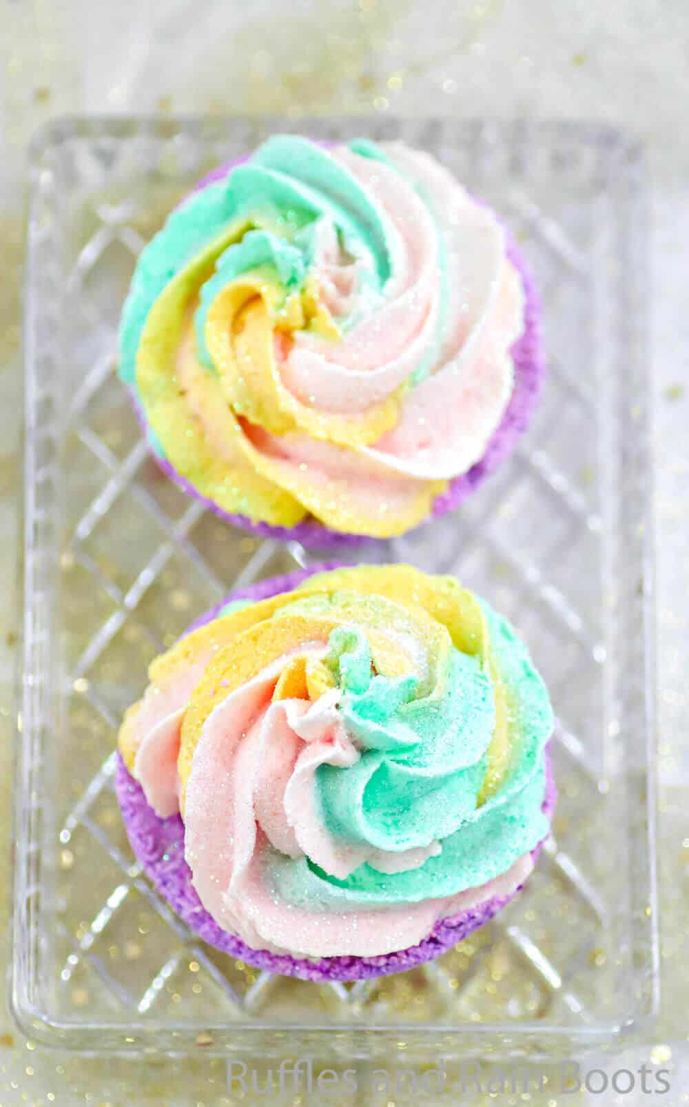 fun cupcake bath bomb craft