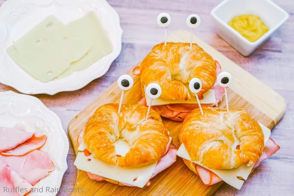 easy mermaid sandwiches of crabs
