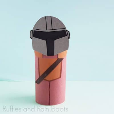 This Easy Mandalorian Paper Craft Is The Easiest Mandalorian Doll!