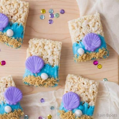 These Fun Mermaid Rice Krispies are Perfect for a Mermaid Party!