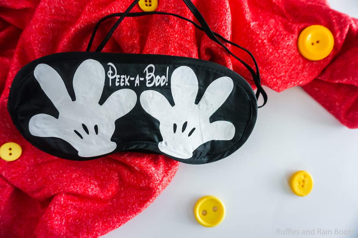 mickey mouse sleep mask cut file set