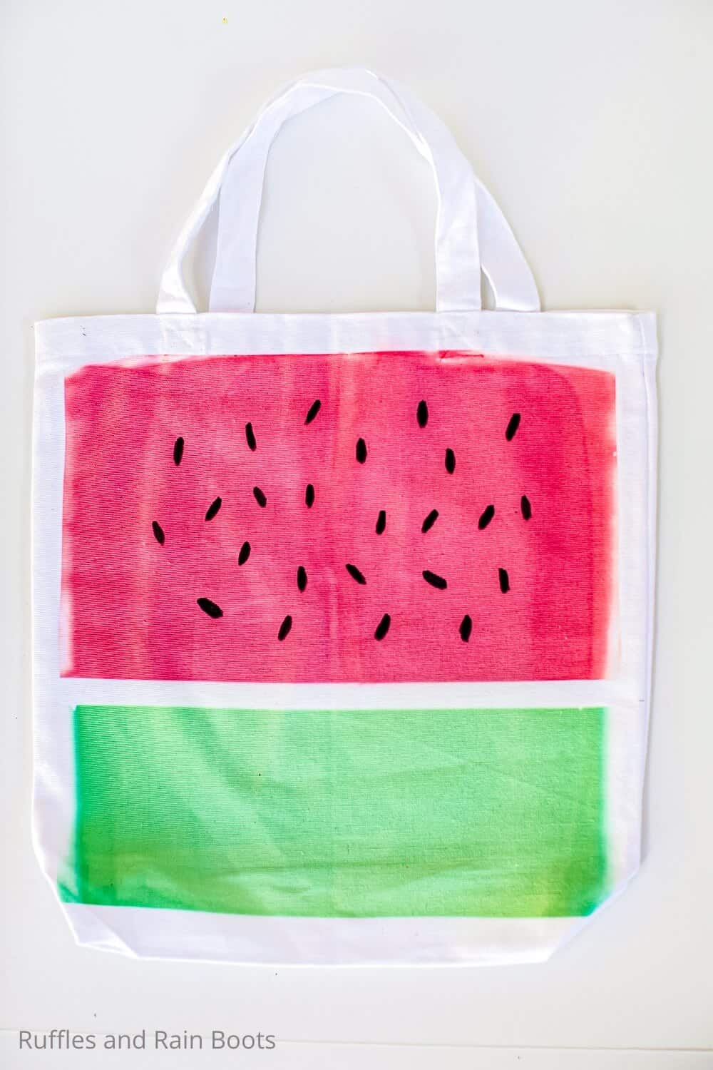 easy watermelon tote for cricut infusible ink
