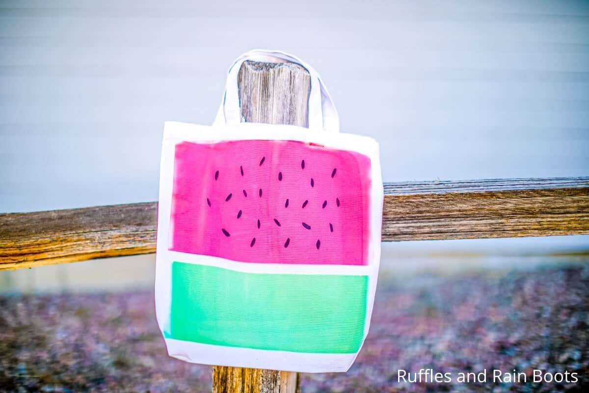 easy cricut infusible ink watermelon craft idea