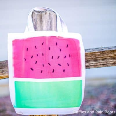 This Incredibly Simple Infusible Ink Watermelon Tote Craft is Awesome!