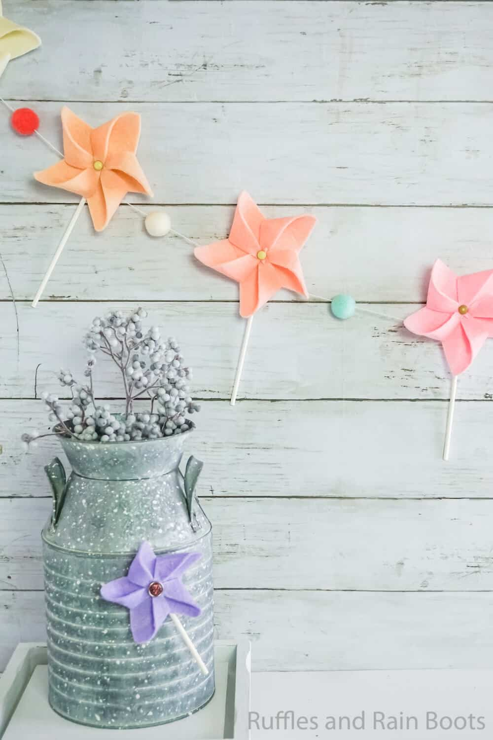 pinwheel garland and pinwheel magnet craft you can make in minutes