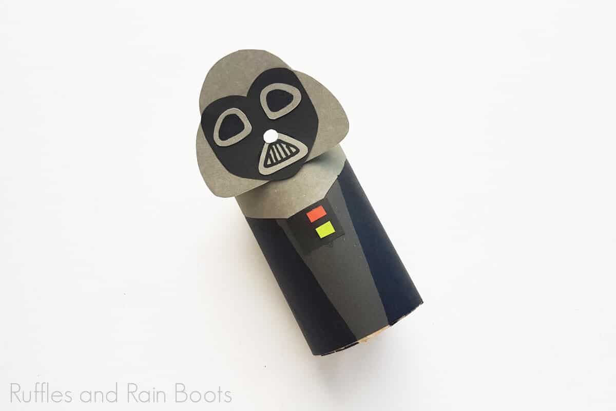 Process Image of the fully completed Darth Vader Paper Roll Craft.
