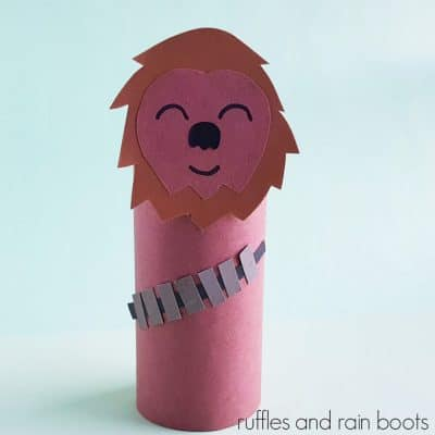 This Chewbacca Paper Craft for Kids is a Fun Star Wars Craft!