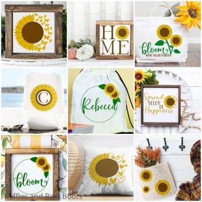 Get this Sunflower SVG Set for All the Most Fun Summer Crafts!
