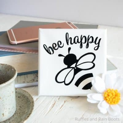 Make This Adorable, Quick Bee Mini-Canvas with Cricut Joy!