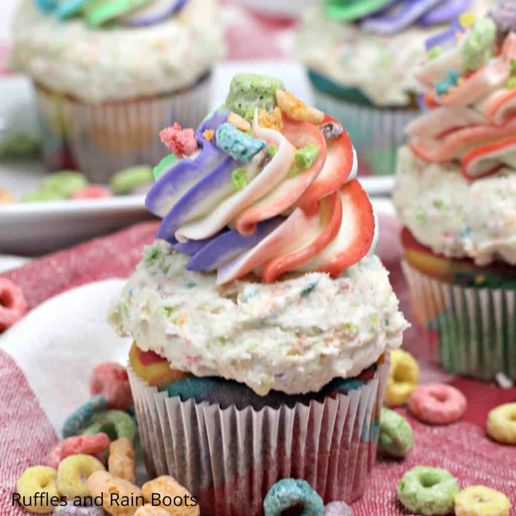 easy recipe for fruit loops cupcakes