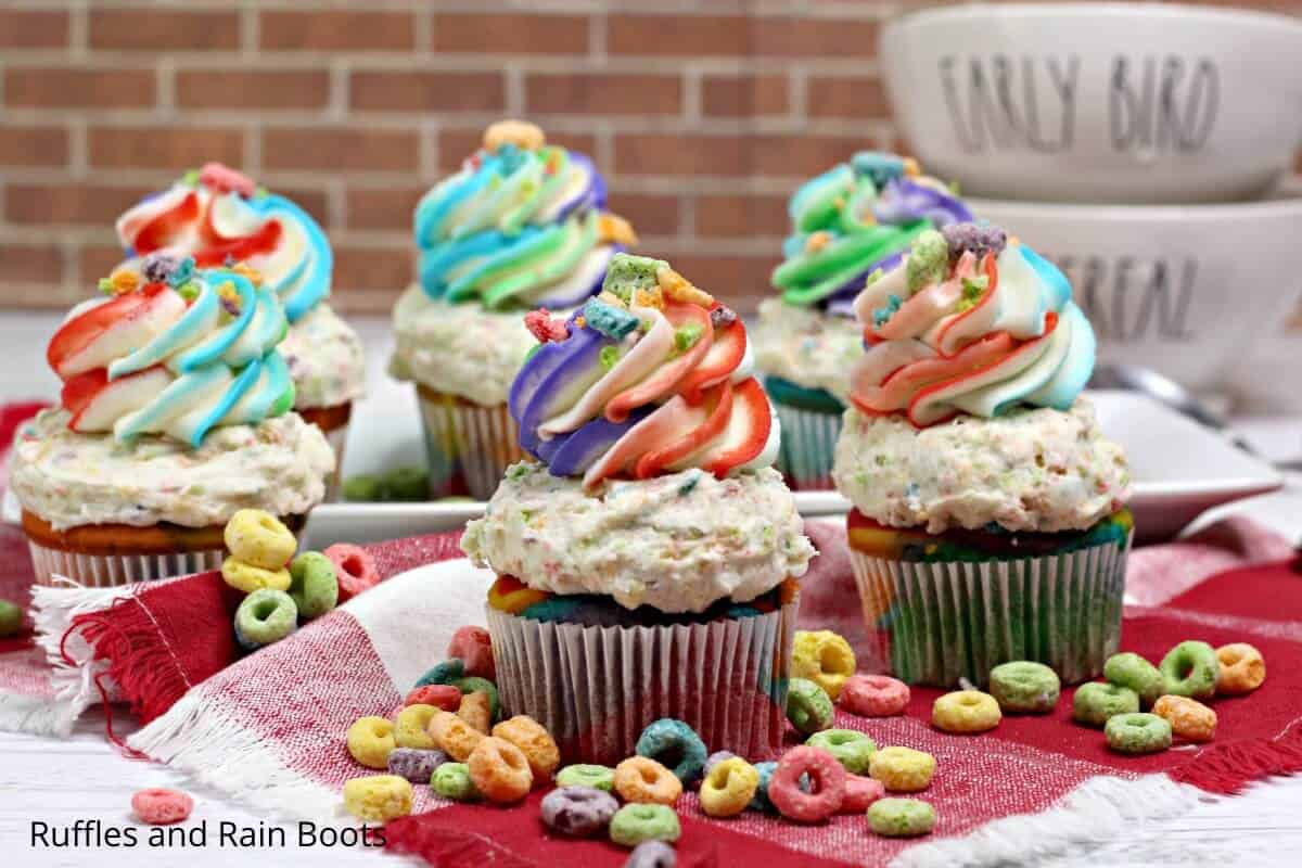 easy recipe for froot loops cupcakes