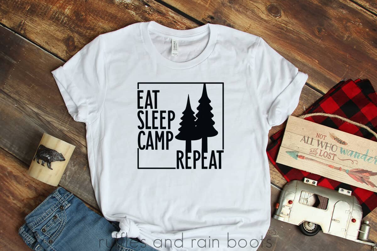 fun eat sleep camp repeat svg for campers