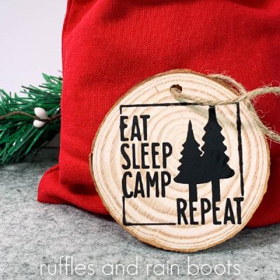 Free Camping SVG – Eat Sleep Camp Repeat Cut File Set – 3 Versions!