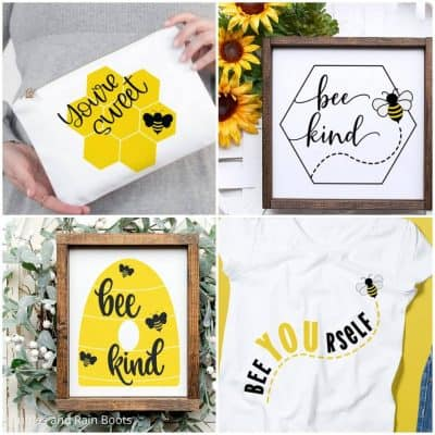 These Bee SVG Files for Cricut or Silhouette Are the Bezzzt!!