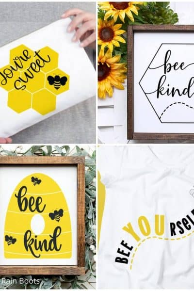 photo collage of bee clip art bundle