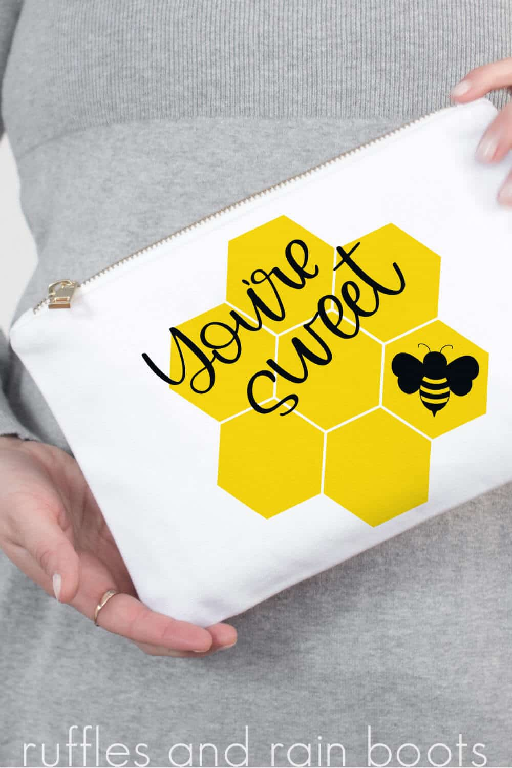 adorable bee svg with honeycomb flower cut files_
