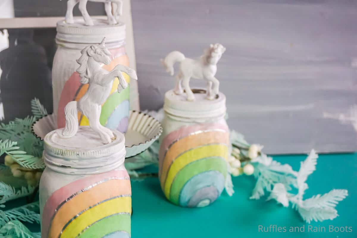 easy unicorn mason jar night light craft