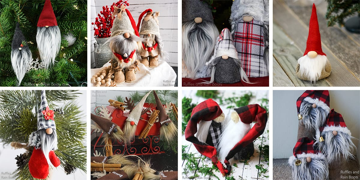 learn how to make a Christmas gnome with or without legs and with or without sewing