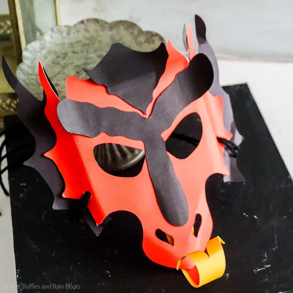 simple paper dragon mask kids craft