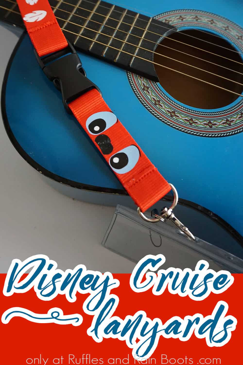 diy fish extender gift cruise craft with text which reads disney cruise lanyards