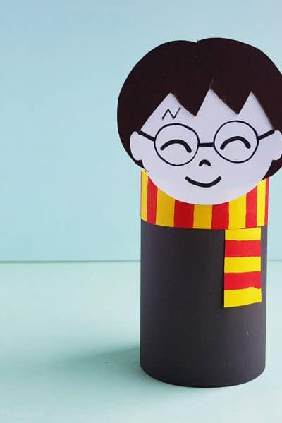 easy harry potter paper roll craft for kids