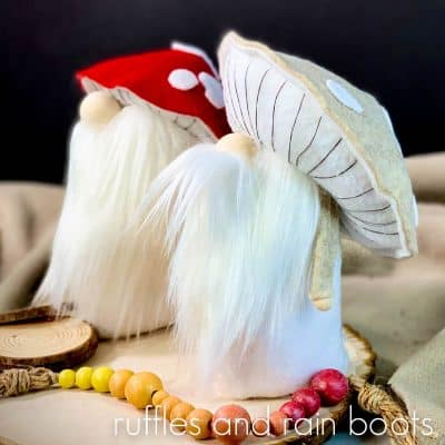 This Adorable Mushroom Cap Gnome is a Quick and Fun Tomte!