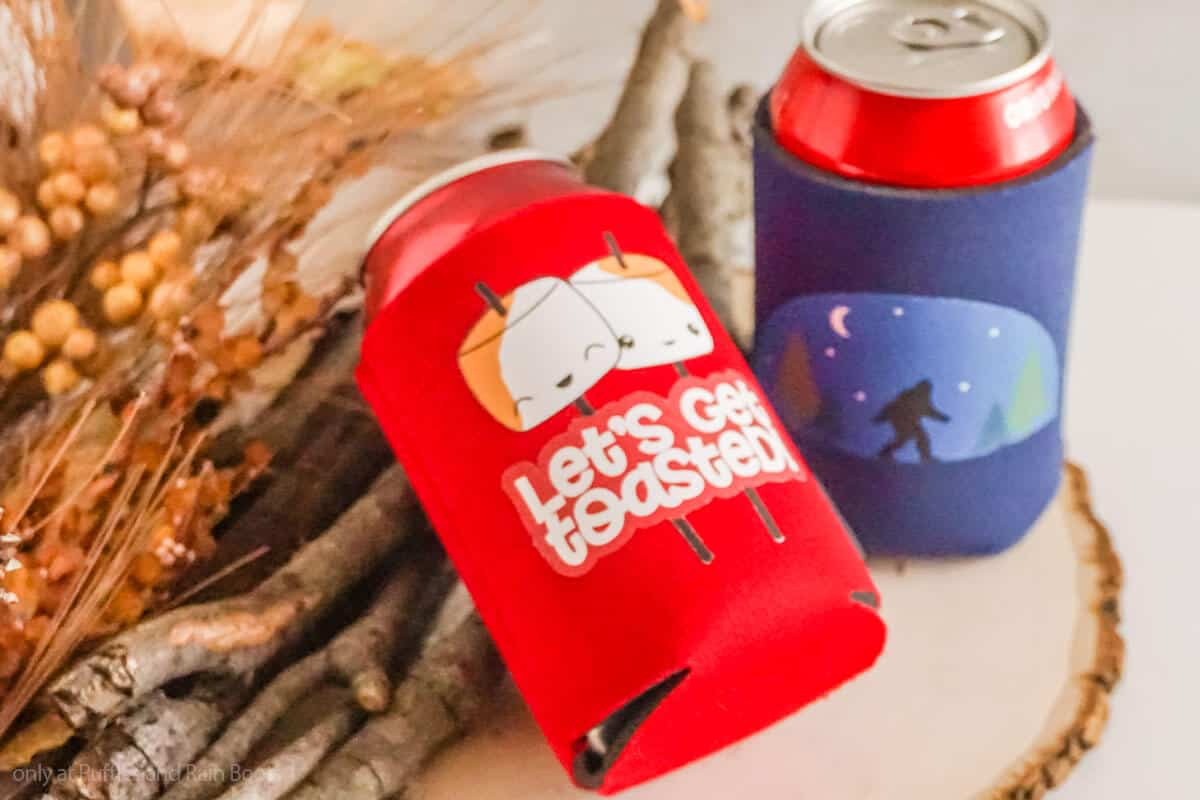 use of printable vinyl to make camping crafts