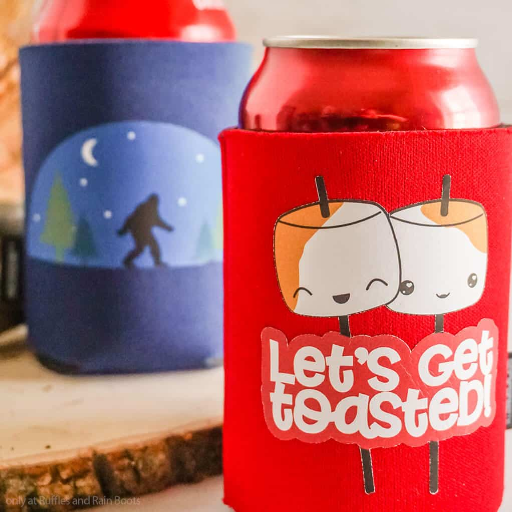easy camping craft to make can sleeves