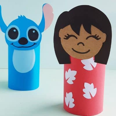 Make This Fun Lilo Paper Roll Craft for a Lilo & Stitch Kids Activity!