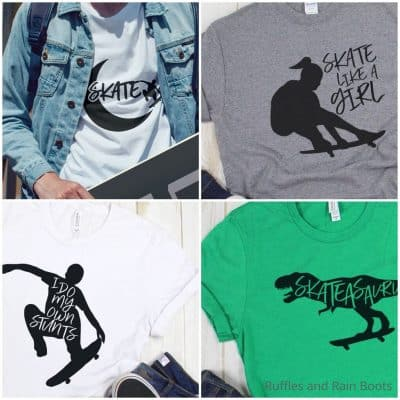 This Fun Skateboarding SVG Set Is Wicked Rad and Makes Cool Shirts!
