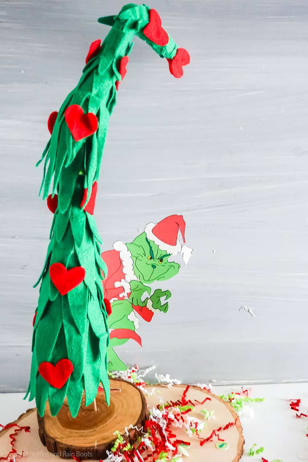 easy grinch tree mini grinch centerpiece craft