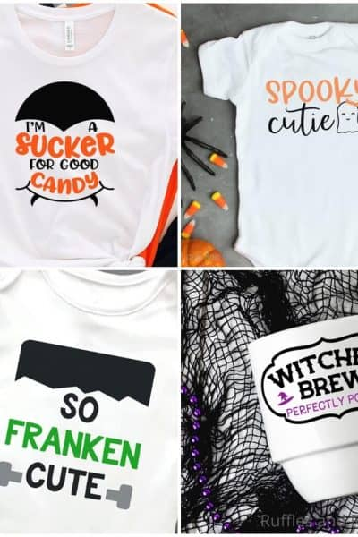 photo collage of fun halloween clipart cut files for cricut or silhouette