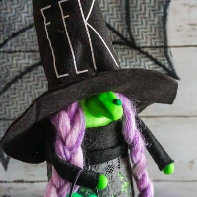 Make This No-Sew Witch Gnome in Minutes for a Spooky Halloween Gnome!