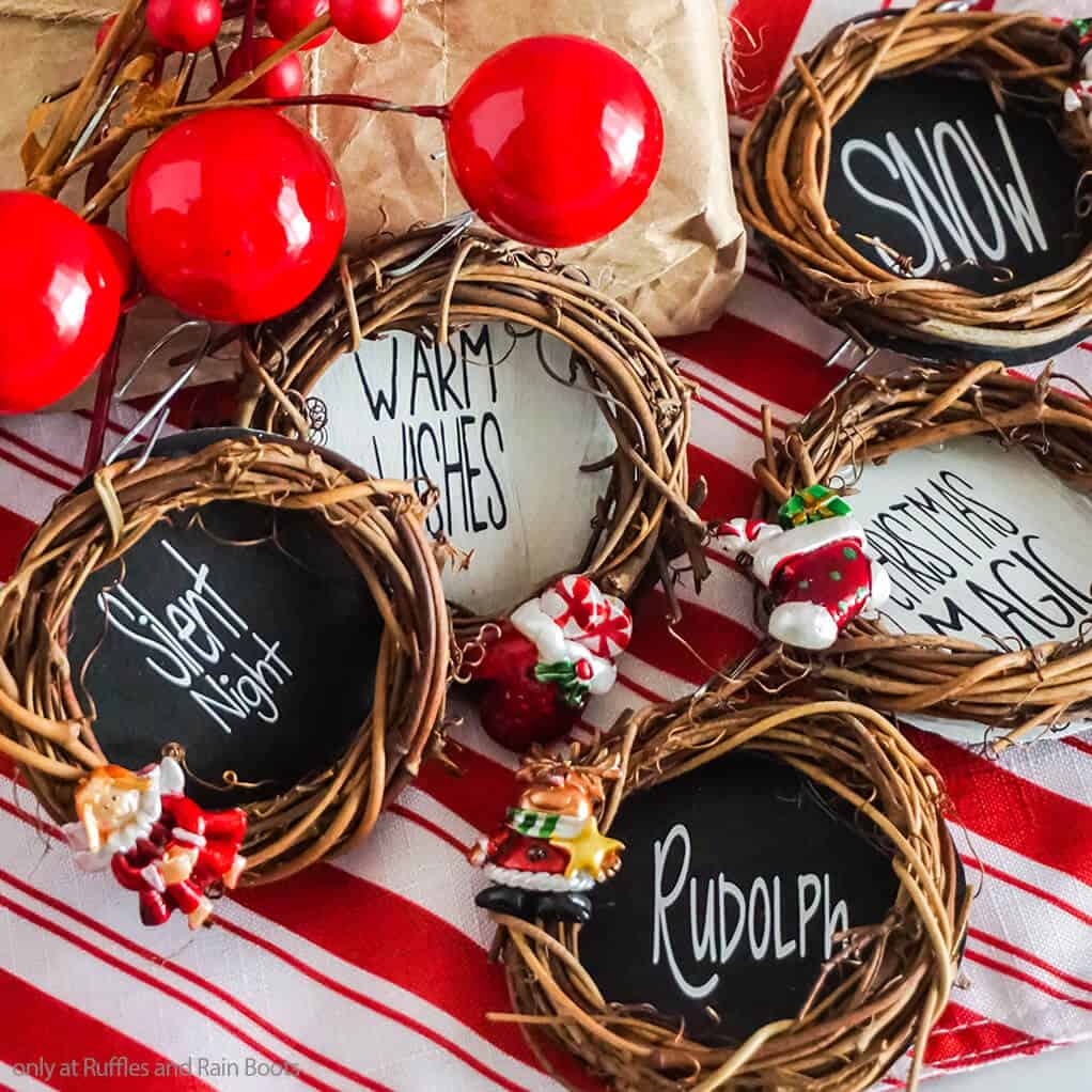 Making This Mini Grapevine Wreath Ornament Set Is A Fun Holiday Craft