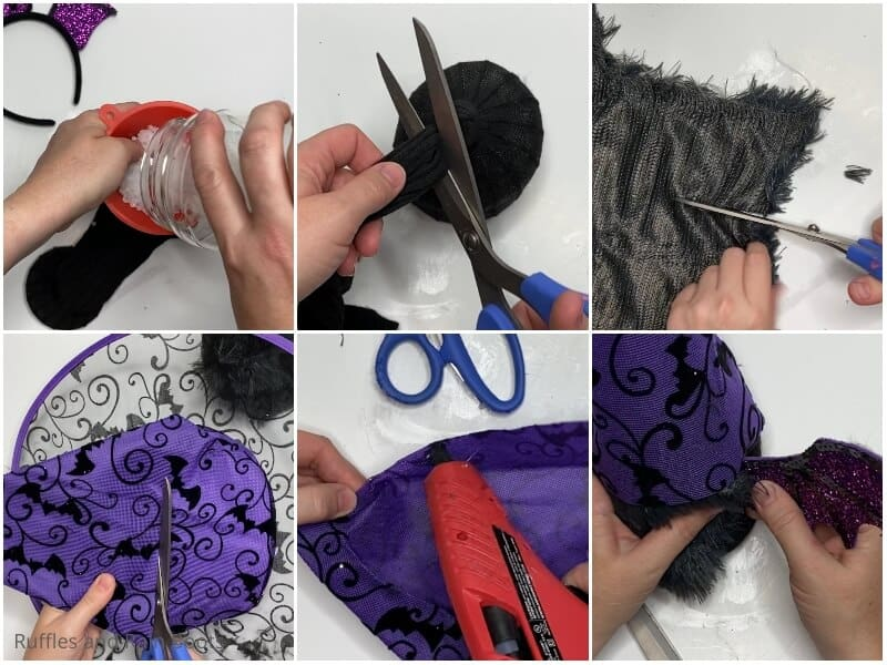 photo collage of how to make a bat gnome