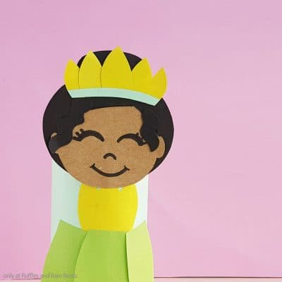 This Fun Princess Tiana Cardboard Tube Craft for Kids is a Great Princess and the Frog Craft!