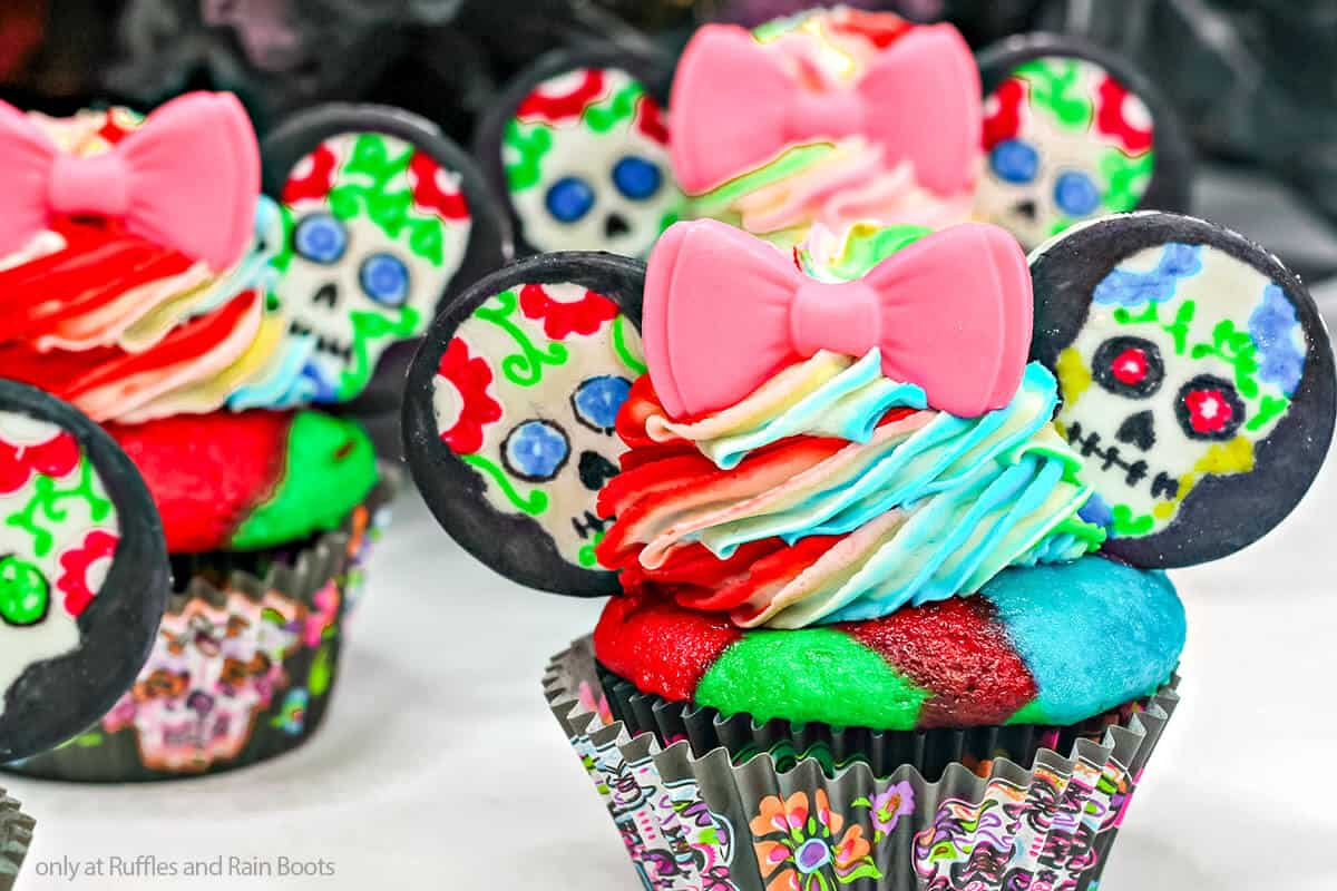 easy sugar skull cupcake recipe