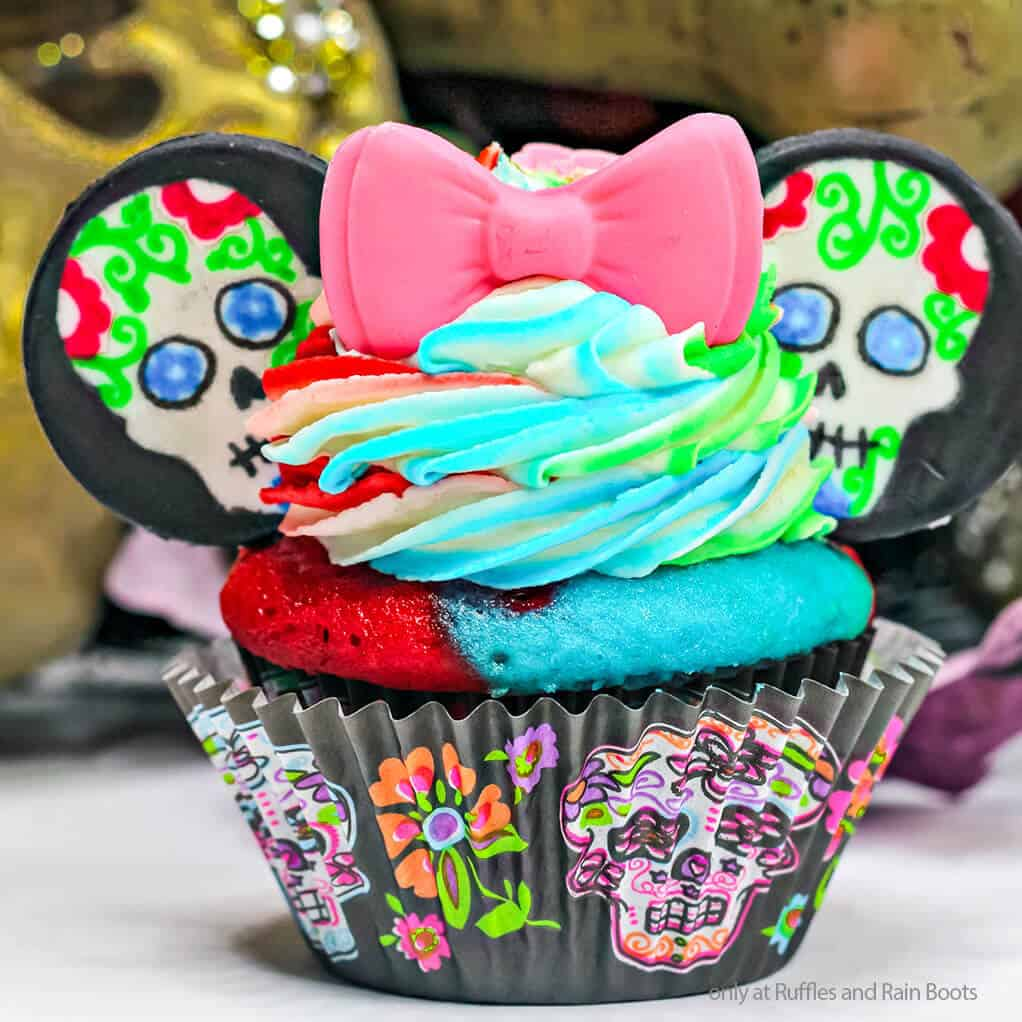 easy day of the dead cupcakes minnie cupcakes for day of the dead
