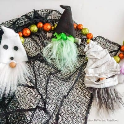 Making a Halloween Gnome Garland is a Fun DIY Halloween Decoration!