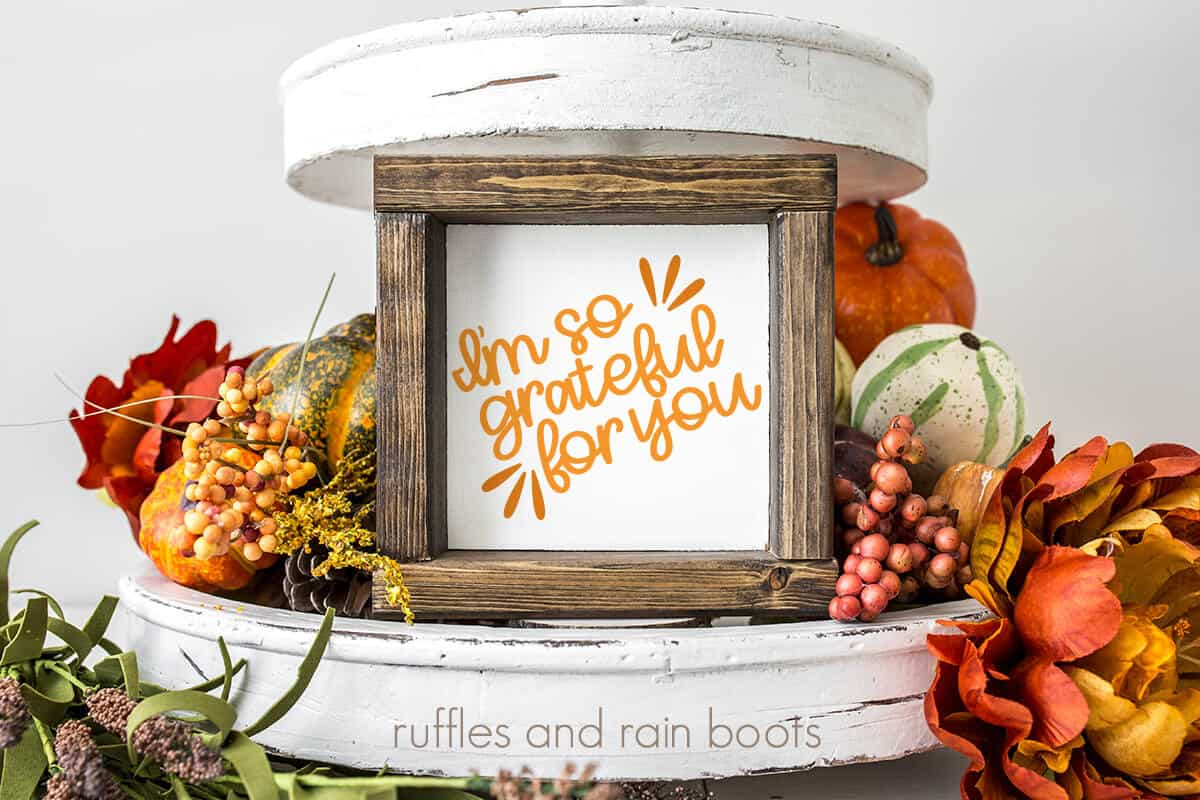 so grateful svg tiered tray fall cut file for cricut or silhouette