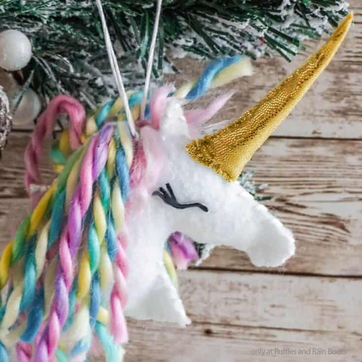 unicorn christmas ornament craft