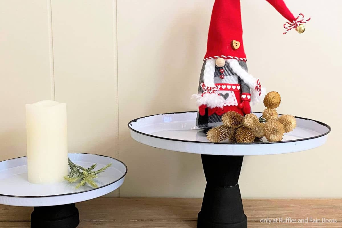 diy dollar tree craft farmhouse stand for gnome displays