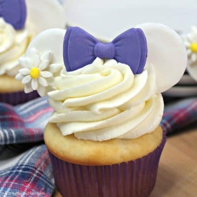 How to Make Daisy Duck Cupcakes with Mickey Ears!
