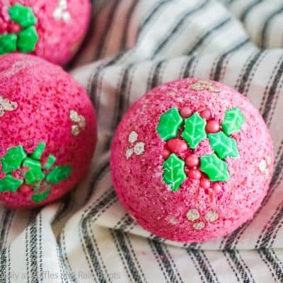 Make These Fun Holly Bath Bombs for an Easy DIY Gift!