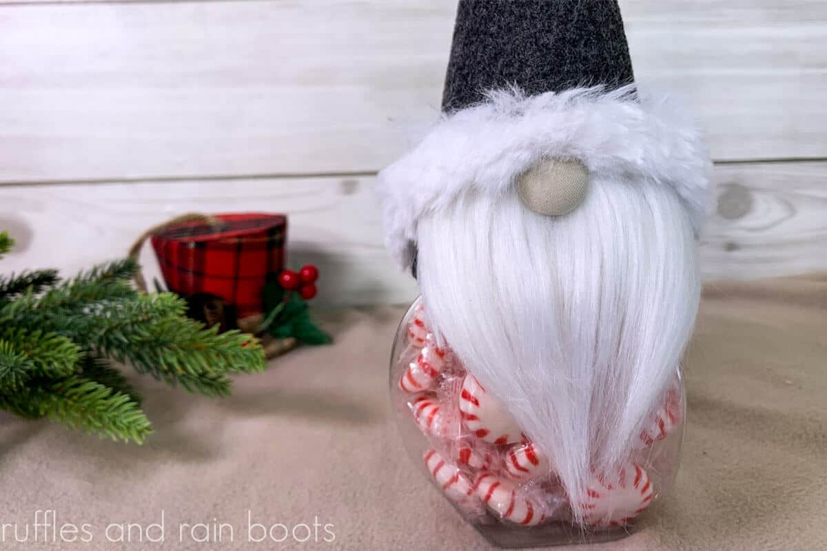 easy gnome candy jar craft