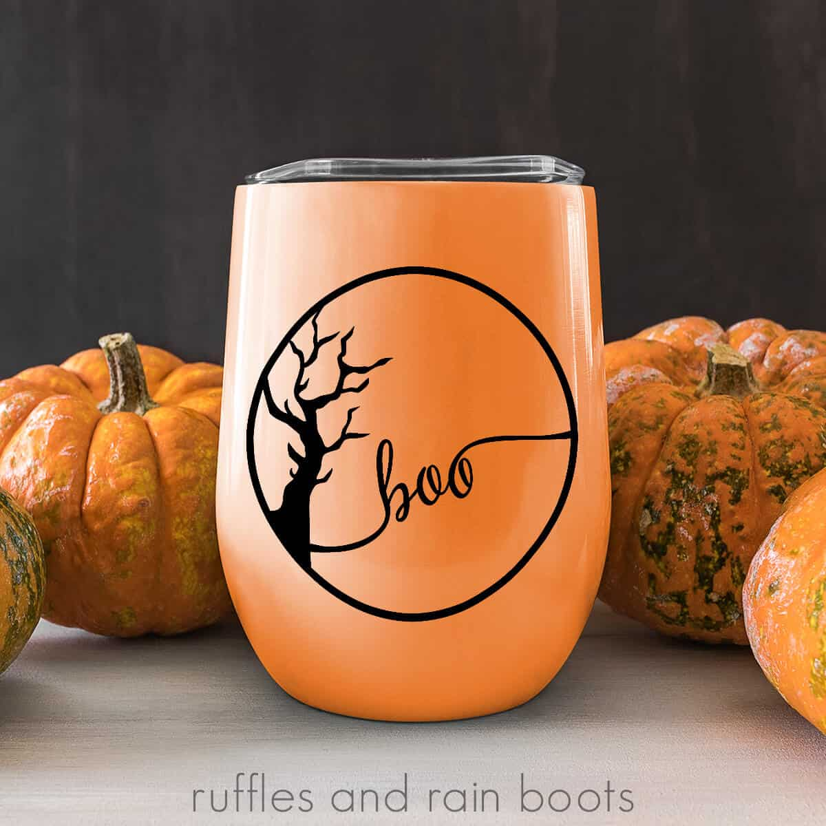 halloween svg cut file on a drink tumbler