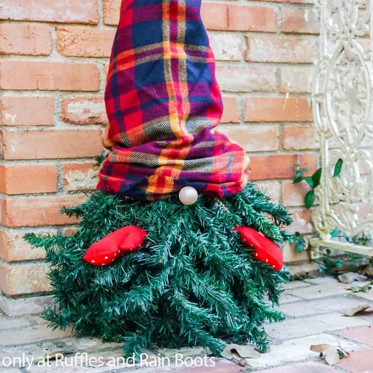 easy diy gnome from a christmas tree